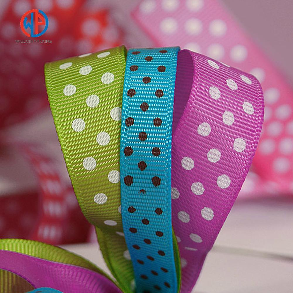 Wholesale 100%polyester custom printed grosgrain ribbon 5