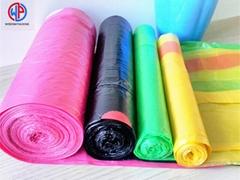 Biodegradable nylon disposable colored drawstring car trash garbage bag on roll