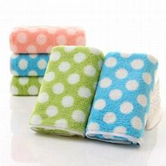 Microfiber Printed Coral Fleece Towels