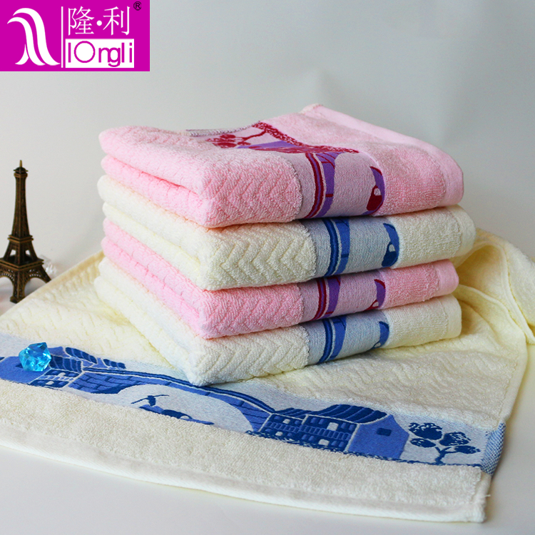 High quality Customized Carton design cotton face towel 2
