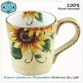 Hand Painted Green Olive Leaf Porcelain Big Drink Cup 2