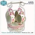 Fashion Elegant Rose Pattern Ceramic Tea