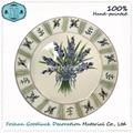 Hand Drawn White Wholesale Small Restaurant Ceramic Plates Dishes 4