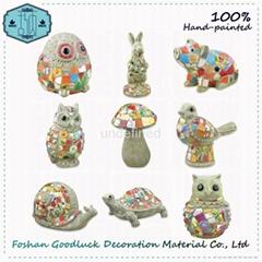 Hand Painted Resin Ceramic Outdoor Garden Animals Decoration (GL143)