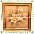 Hand Painting Ceramic Tile Plaque Decor with Magnolia Flower Pattern (36351)