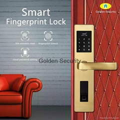 smart fingerprint door lock with gsm wifi alarm system