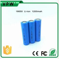 厂家直销1200mAh18650锂电池