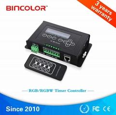 恒压定时可DIY自编程RGBW控制器内建实时时钟系统
