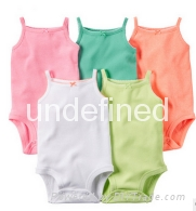 Short sleeved baby romper suits
