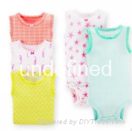 Short sleeved baby romper suits 1
