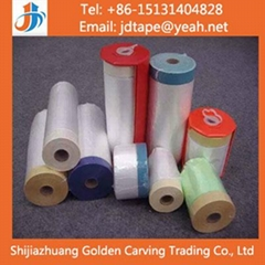 Auto Used Pre-taped Masking Film Tape