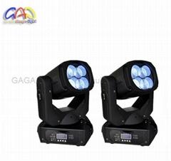 15CH DMX Channels 4PCS Super LED Beam Moving Head Lights