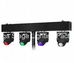 4 Moving Head *Osram 10W LED Moving Head Beam Light