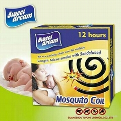 Sweet Dream Brand Manufacture supplier natural mosquito repellent coil
