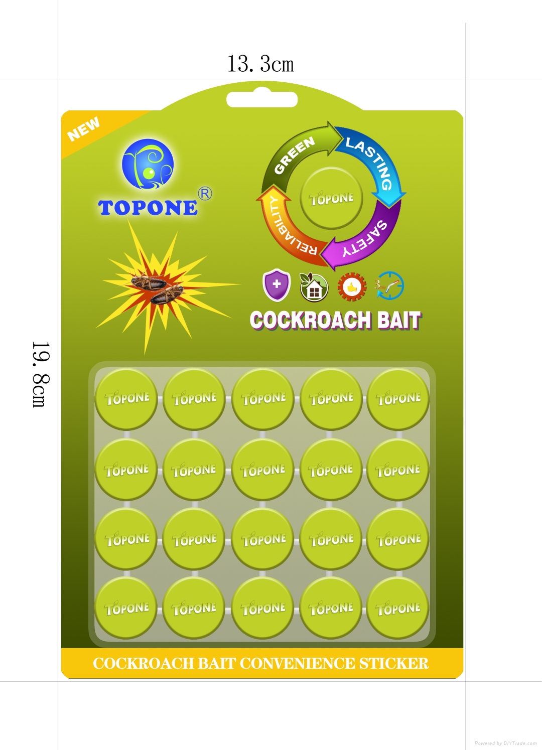 Best selling product Topone Brand Powerful Cockroach Killer Stickers  2