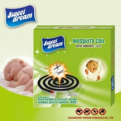 Sweet dream black mosquito coil for chemical formula mosquito coil