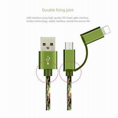 2 in 1 cellphone cable usb data cable mobile phone Charger multifunction cable