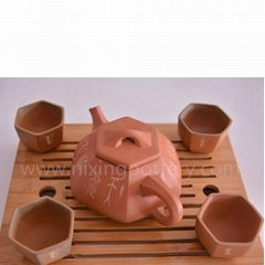 Pottery Supplier High Quality Hand Engraving Tea Set As Gift