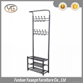 3 Tier Chrome Wire Shoe Rack with