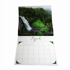 Cheap custom full color wall calendar printing 2018