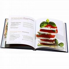 Full color hardcover book custom cookbook printing