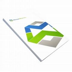Custom well designed full color presentation folder printing