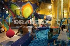 供應儿童室內繩網淘氣堡