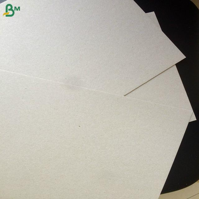 Recycled mixed pulp 300gsm 400gsm 500gsm grey board duplex board back 3