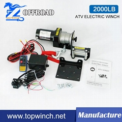 2000lbs  ATV Winch with Wireless Remote Control