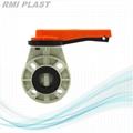 PP Butterfly Valve Wafer Type DIN PN10