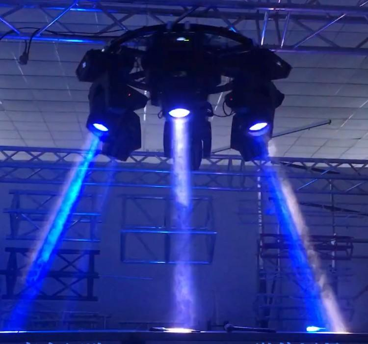 Small Stage Lighting Truss Circle Rotary Lights Systems Dj Equipment 1