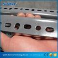 Slotted angle steel shelving