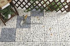 30x30cm outdoor waterproof natural travertine stone deck flooring tiles for gard