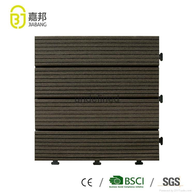 luxury WPC wood plastic composite vinyl plank decking outdoor flooring tiles 2