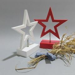 木製五角星心形小夜燈