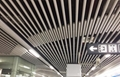 Station decorated round tube ceiling