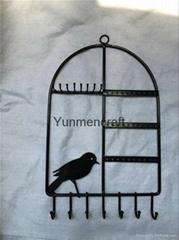 铁艺鸟笼饰品架
