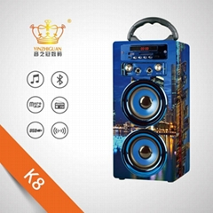MX-K8 family expenses karaoke bluetooth wooden speaker