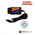 ELM327 USB Interface OBDII OBD2 Diagnostic Auto Car Scanner Tool Cable V1.5 ep 1