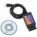 ELM327 USB Interface OBDII OBD2 Diagnostic Auto Car Scanner Tool Cable V1.5 ep 2