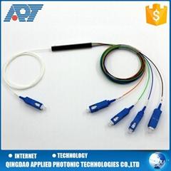 CATV optic optical 4 way fiber optic 1x4 PLC splitter with connector