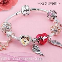 Personalized Charm or Bead Bracelet 925 sterling silver bracelet