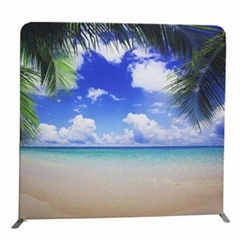 Portable display backdrop events sign wall and photo booth display stand