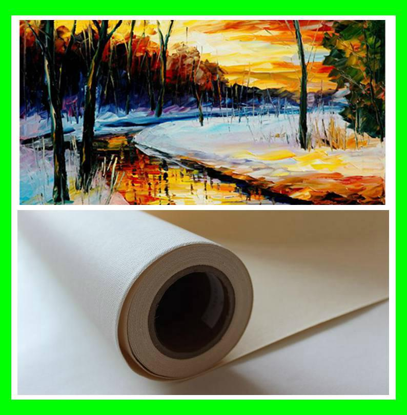 380gsm Semi-Glossy blank art canvas for painting 5