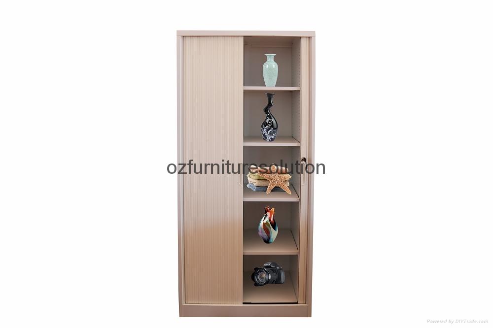 Double Tambour Door Steel Cupboard for office use 1