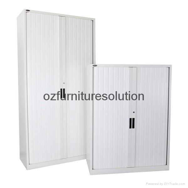 Double Tambour Door Steel Cupboard for office use 2