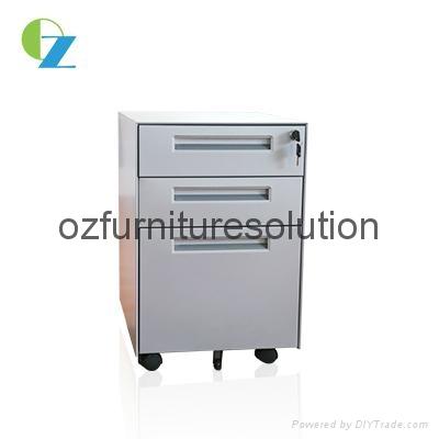 3 drawers Filing steel mobile cabinet for under desk Storage 2