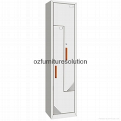 Z Shape steel locker