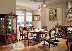 實木餐台餐椅
