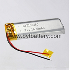 Bluetooth headset 3.7v 1650mah lithium polymer battery